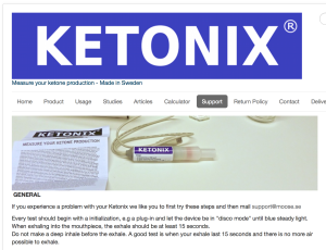 Ketonix website